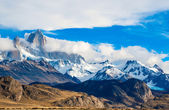 Fitz Roy Mountain, El Chalten, Patagonia, Glaciers National Park — Stock Photo