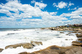 Punta del Diablo Beach, popular tourist place in Uruguay — Stock Photo