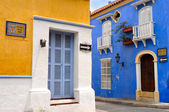 Typical Colonial houses, San Diego Square in the Old City of Car — Stock Photo