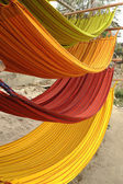 Hammocks, market place in Ecuador — Stock Photo