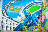 RIO DE JANEIRO Street art — Stock Photo