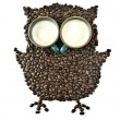 Coffee cups and Coffee beans Shaped like the Owl — Stock Photo #46513595
