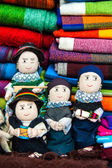 Traditional rag dolls in national clothes, Ecuador — Stock Photo