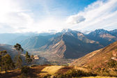 Sacred Valley harvested wheat field in Urubamba Valley in Peru,  — Stock Photo