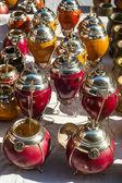 Yerba mate cups — Stock Photo