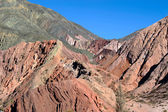 Colorful valley of Quebrada de Humahuaca, central Andes — Zdjęcie stockowe