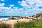 Strand punta del diablo, touristischen ort in uruguay — Stockfoto
