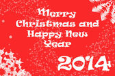2014 Merry Christmas and Happy New Year background — Stock Photo