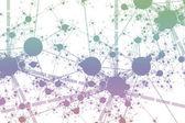 Network Paint Splatter — Stock Photo