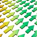 progresso e crescimento abstrato gradiente — Foto Stock