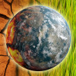 Global Warming Problem Earth as Concept Art - Stock Photo
