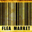 Flea Market Sign - Stock Photo