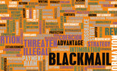 Blackmail Crime as a Danger Concept Word Cloud — Stock Photo