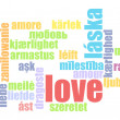 Love in Many Languages — Stock Photo