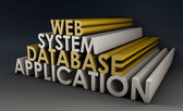 Web Application System — Stock Photo