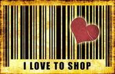 я люблю ходить по магазинам — Стоковое фото