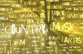 Country muziekgenre als een grunge achtergrond — Stockfoto