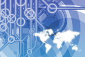Global Business Technology Abstract — Stock Photo