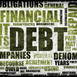 Financial Debt as a Abstract Background Concept — Stockfoto