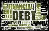 Financiële schuld als een abstracte achtergrond concept — Stockfoto