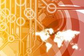 Resumen de tecnología global de negocios — Foto de Stock