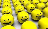 Smiley tváře pozadí — Stock fotografie