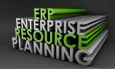 Enterprise Resource Planning ERP — Stock Photo
