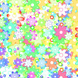 Cute Spring Flowers Abstract — Stock Photo