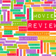 Movie Review - Stock Photo