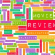 Movie Review — Stock Photo