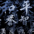 Stock Photo: Chinese Writing Calligraphy Background