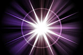 Purpurové hvězdy sunburst abstrakt — Stock fotografie