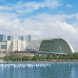 Singapore Tourism City Skyline - Stock Photo