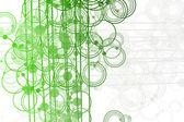 Fließende linien und kreise abstrakt — Stockfoto