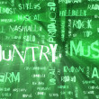 Country Music Genre as a Grunge Background - Stock Photo