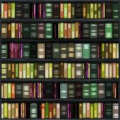Seamless Book Shelf — Stock Photo