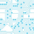 Seamless Circuitry — Stock Photo