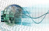Global bedrijfstechnologie — Stockfoto
