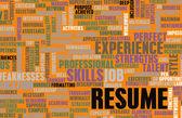 Job Resume — Stock Photo