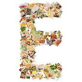 Letter E — Stock Photo