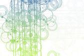Plynoucí linie a abstraktní kruhy — Stock fotografie