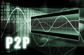 P2P . — Stockfoto