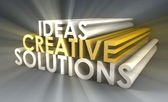 Creative Ideas and Solutions — Stock Photo