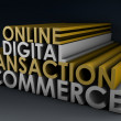 Stock Photo: Online Digital Transaction