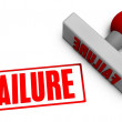 Failure Stamp — Stock Photo