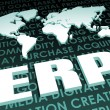 Stock Photo: ERP Industry Global Standard on 3D Map