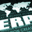 ERP Industry Global Standard on 3D Map — Stock Photo