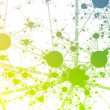Stock Photo: Network Paint Splatter