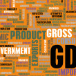 GDP or Gross Domestic Product — 图库照片