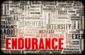 Endurance Training and Mental Strength as Concept — Stock Photo
